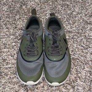 Nike shoes. Military green.